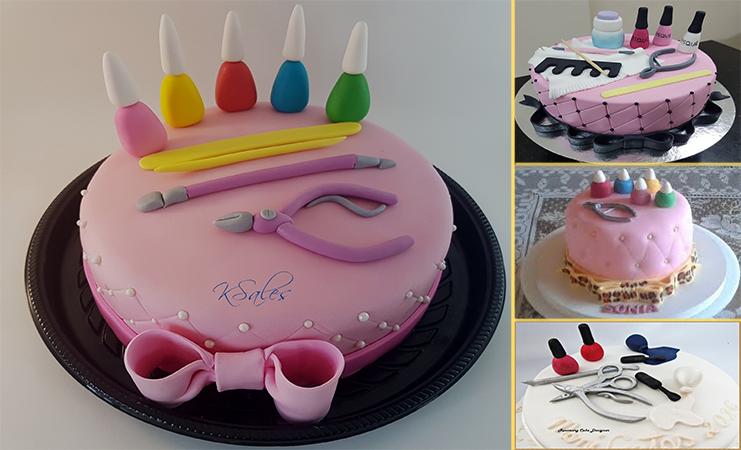 12 Modelos de bolo de manicure