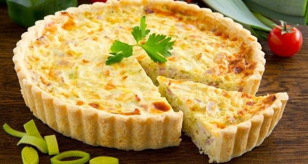 Receita de quiche com presunto e queijo
