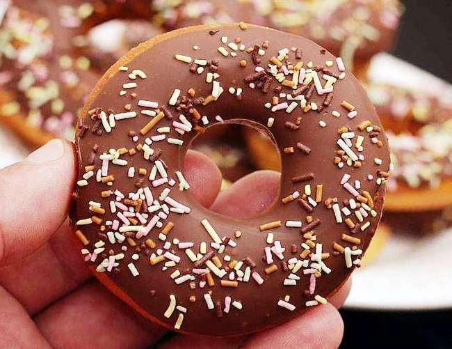 Donuts com Ganache de Chocolate