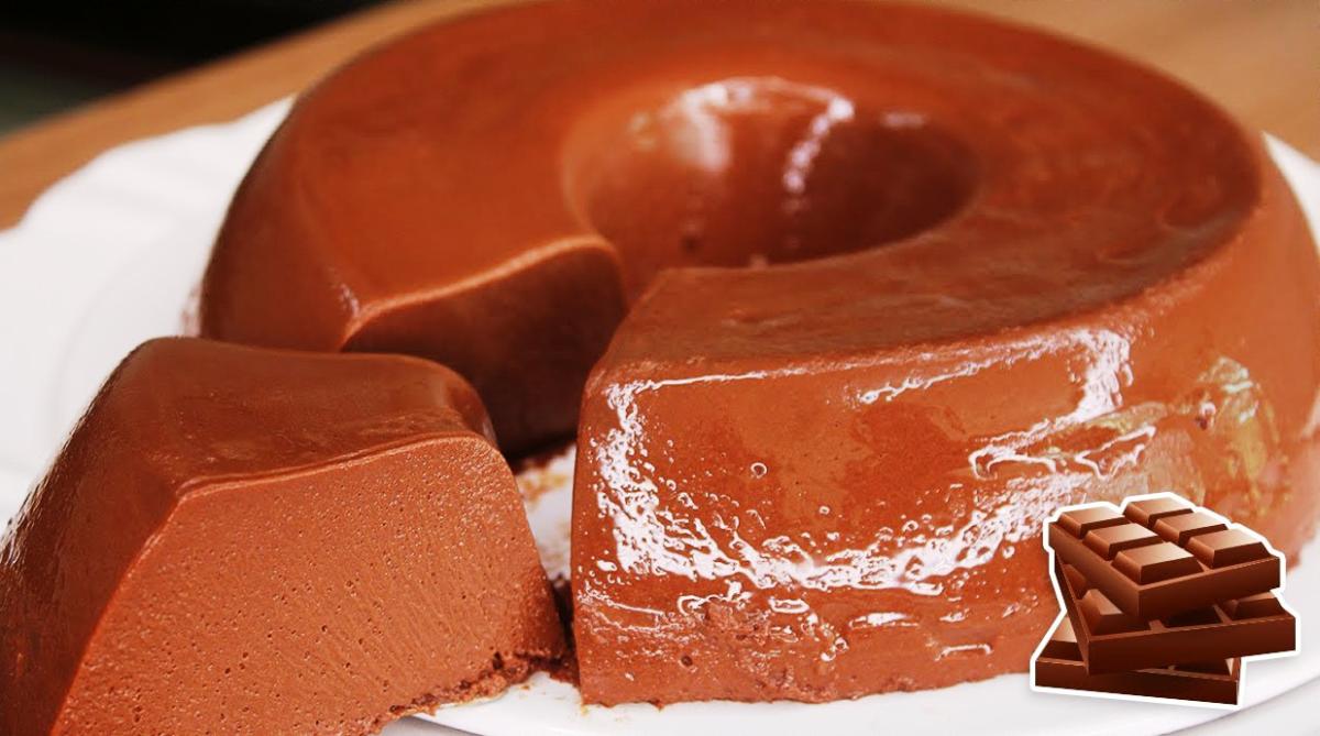 Pudim de Chocolate Gelado