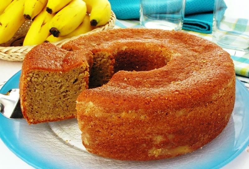 Bolo de Banana Simples
