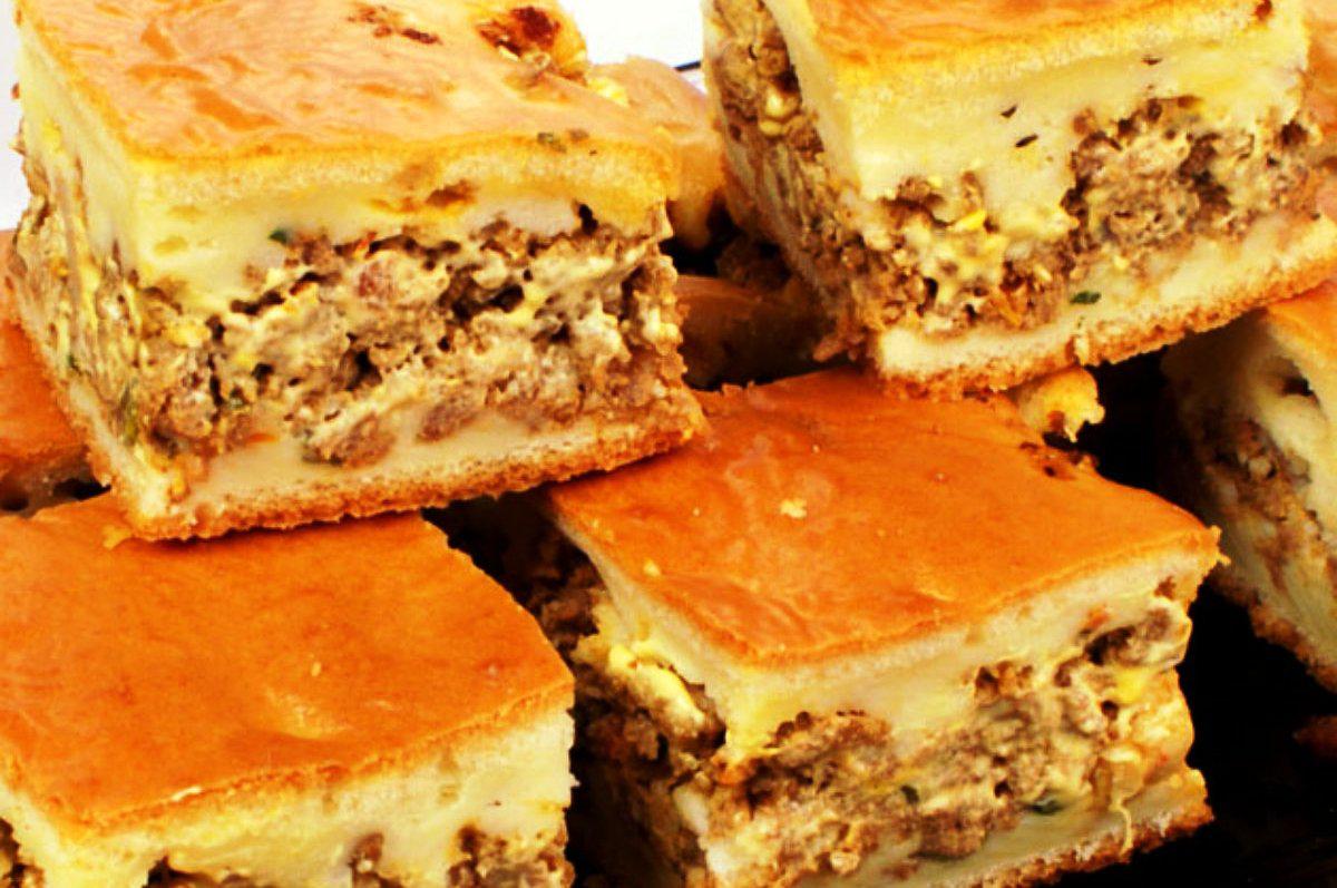 Torta de Carne Moída com Recheio Cremoso