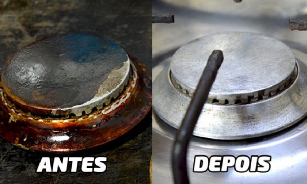 Como limpar boca de fogão de maneira FÁCIL!