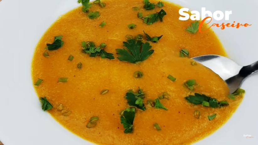 Perca peso com essa sopa de abóbora #SopaSecaBarriga